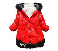 Free shipping 2014 brand new fashion down coat & pakas with hood, ,girls' down jackets ,winter children down coat girls coat,