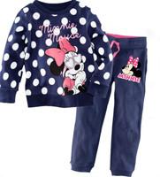 free shipping Retail 2-7 years spring autumn long sleeve kids pajama sets cotton pajamas for girls pijamas kids