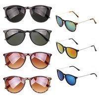 New 2014 Fashion Brand Designer Women Sunglasses Coating Sunglasses Men Vintage Oculos De Sol Round Glasses Retro  Free Shipping