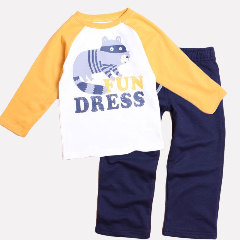 Lavido 2014 toddler boys long-sleeved clothing sets boys spring 100% cotton comfortable set(China (Mainland))