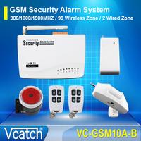 GSM Home Burglar Security Wireless Quad Band Alarm System Set + Free Shipping