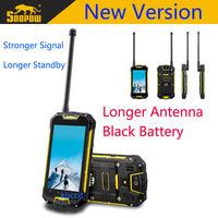 New original Snopow M8 M8S Shockproof Android 4.2 PTT Radio Walkie talkie MTK6589 IP68 rugged Waterproof phone GPS 3G Polish