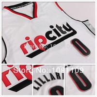 Rip City Portland #0 Damian Lillard White New Fabric Rev 30 Jerseys Basketball Jersey Cheap Jersey Rip City S-XXL Free Shipping