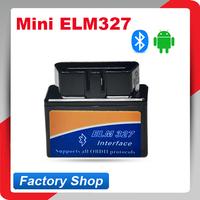 Free Shipping Latest Version V2.1 Super Mini ELM327 Bluetooth OBD2 Scanner ELM 327 For Multi-brand CANBUS Support All OBD2 Model
