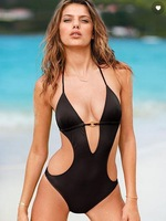 vs Sexy swimsuit with Low-cut halter neck sexy one piece swimwear womens swimsuit wholesale A01246