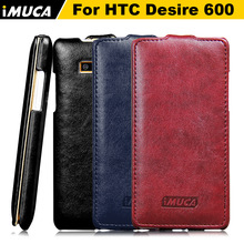 IMUCA original brand cell phone accessories black for htc desire 600 dual sim mobile phone cases case cover flip leather