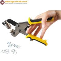 Mini Hand Press Grommet Punching Machine Tool for Eyelet #4 (9.5mm)