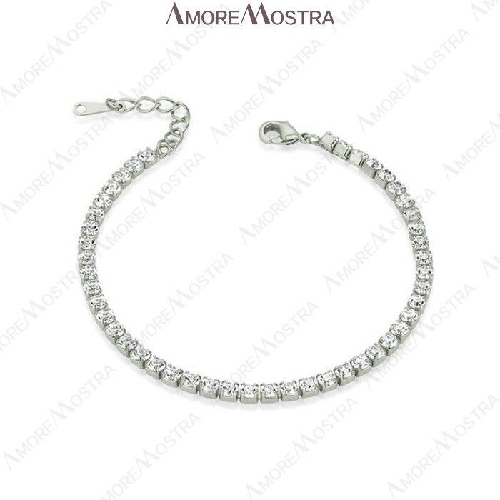 2015 OL Style Simulated Diamond Bracelet 18K Platinum Plated small piece Austria Rhinestone Bracelet Chain Female Jewelry B013W1(China (Mainland))