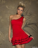 2014 new Supply Ladies dresses  black, red sexy dress for women N1094