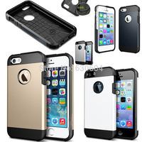 High Quality Newest SGP Tough Armor SPIGEN SGP TPU+PC Case Cover for iPhone 5 5S 20pcs/lot=10pcs Case+10pcs Screen Protector
