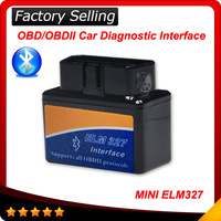 2014 best selling Super MINI ELM327 Bluetooth OBD2 V1.5 Smart Car Diagnostic tool Interface ELM 327 Wireless Scan Tool