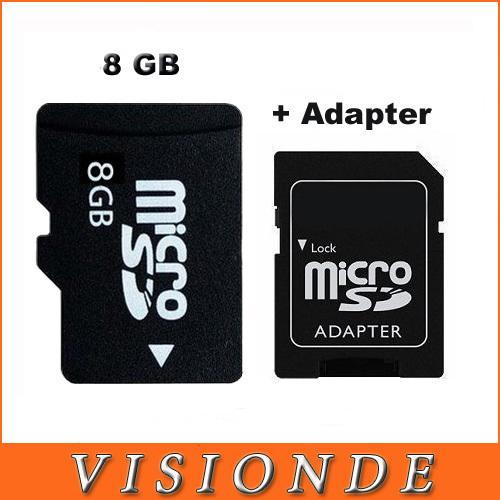 8 GB TF Card micro sd memory card+SD Card Adapter + Plastic Box 100% Real 8GB Capacity Guaranteed Class 6 Speed Micro SD Card(China (Mainland))
