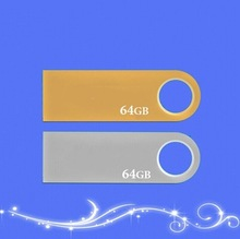 Wholesale Silver / Gold 64GB 8GB &16GB & 32GB  Usb Flash DrivesUSB 2.0 Pen/Thumb Drive Freeshipping(China (Mainland))