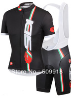 2014 Short Sleeve cycling jersey & cycling bib shorts sets Team cycling 2014 ropa ciclismo cycling clothing bike jerseys black