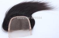 Free Shipping! Hairpieces Swiss Lace Closure,5a Natural Black hair,Virgin Brazilian Remy Hair Top closure,Cheap!