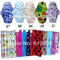 Free Shipping 12 pcs Reusable Menstrual Pads Cloth with 3 pcs Mini Cloth Pads Bags