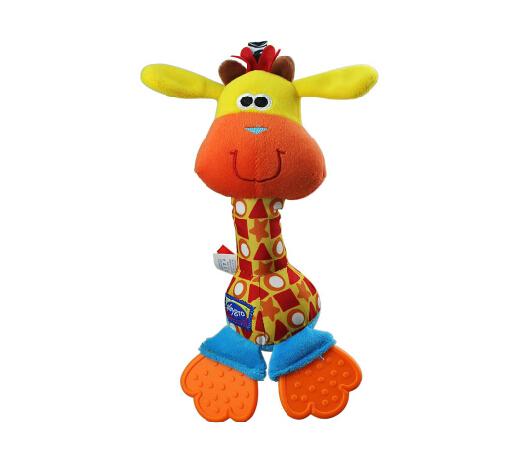 2014 NEW Giraffe Baby Toys rattles mobile Cartoon Animal Plush Toys Hanging Bed Free Shipping(China (Mainland))