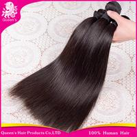 queen hair products brazilian virgin hair 3pcs lot,brazilian virgin straight,100%human hair weave extension free shipping