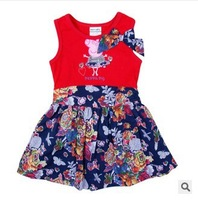 Retail! Free shipping H4566# new fashion 2014 nova beautiful baby girls flower peppa pig hot summer party dress for baby girls