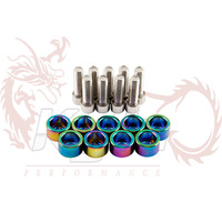 KYLIN STORE --- Neo chrome   8mm Metric Cup Washers Kit (Header) WITH LOGO