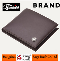 2014 Men's Short Design Cowhide Genuine Leather Wallet , High Quality Famous Brand Leather Purse For Men , Free Shipping