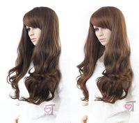 32'', 235g, 9 colors, long body wavy synthetic hair, full lcae wigs, cosplay wig, 1pcs