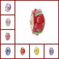 Glass beads fit for baigi european bracelets for women jewelry making multi-choice lots sets flower lampwork murano glass beads