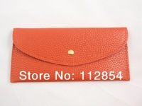 Free Shipping+Wholesale Women Candy Soft PU Leather Card Wallet Purse Clutch Ladies' Evening Clutch Wallets,100pcs/lot