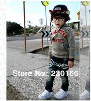 New Arrival 2014 Spring / Autumn Kids Boys Jeans Pants Letter Zipper Children Trousers Boys Denim Jeans Free Shipping K2014006