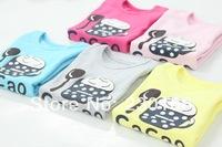 New Arrival 2014 Spring / Autumn Kids Girls Long Sleeve T-Shirt Words Kids Bottoming T-shirt Cotton Children Tops Tees K2014019