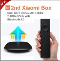 Original New MIUI XIAOMI 2nd Android Smart TV Box Dual Core 1.5GHZ Bluetooth 4.0 5G Wifi Internet Media Player Airplay Miracast