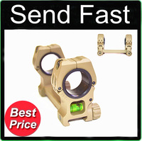 Send Fast Sporting 25mm Double Ring Flashlight Scope Laser Mount With 11mm Weaver Rail Dovetail  spirit level