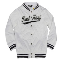 Free Shipping 2014 New Arrival Karl Kani Streetwear baseball jacket Sports fashion casual men's jacket baseball men hiphop rap