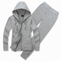 Black/Grey 2014 New Women Tracksuit Sportswear Zip Up Hoodies Clothing Set Casual Jogging Suits Sweatshirts Sport Suit Plus Size