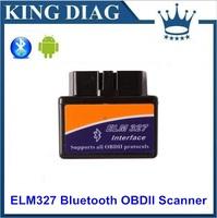 Super Mini ELM327 Bluetooth V1.5 OBDII Auto Scanner Mini327 OBD2 Car Diagnostic Tool ELM 327 works on Android Torque