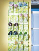 Fresh green leaves 20Pieces shoes Hanging Bag door\Walls Holder Shoe Storag Organizer Closet Hanger Organiser
