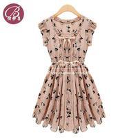 2013 Newest European Start Design Slim Fashion Women Sleeveless Animal Printed Vintage color Chiffon Casual Novelty Dress