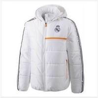 free shipping real Madrid N98 jacket top Thai version 13/14 real Madrid N98 jacket down jacket  Thailand quality white coat coat