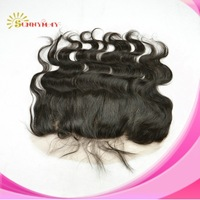 In Stock Soft Swiss Lace Top Quality Brazilian Virgin Hair Natural Free Style Color Body Wave Lace Frontal With Baby Hair