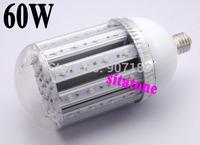 2 year warranty free shipping AC85-265V E40 60W  led corn light 60*1W Bridgelux 130lm/W led,led lamp