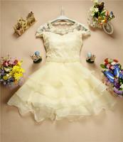 2014 women's beaded gauze skirt tank Evening dress
