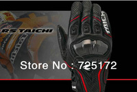 Free Shipping RS TAICHI RST390 Motorcycle Gloves Leather Carbon Sport Racing gloves Leather Mesh riding off-road gloves