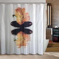 Bathroom products World Map bathroom curtain shower curtain terylene bath curtain 180x200cm Grey color panel designs