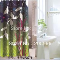 Green leaves bathroom shower curtain terylene bath curtain 180x200cm ,screen shower,curtain bath