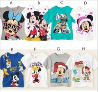 Retail 2014 New Arrival boys girls cartoon anime figure despicable me minions t-shirts kids Tops Tees children's clothing