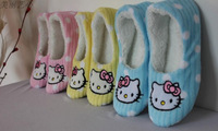 pink  hello kitty slipper indoor slipper  small size & medium size available one pair free shipping