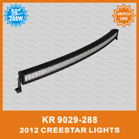 50inch 288w curved cree led light bar KR9029-288 For Pickup truck, pickup trucks, Diesel Three Wheelers, PICK-UPS