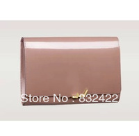 23CM 6 Colors 2014 Fashion Champagne Day Cluth Patent Leather Candy Colors Small  Evening Bags High Quality Free Shipping