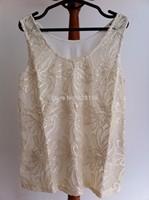 European style Women Leather Embroidery Patchwork Tank top Sleeveless blusas femininas size 34-42 Free Shipping