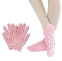 HOT NEW Soft Spa Gel Gloves and Socks for bautiful hands including 1 pair gloves+1 pair socks Gel Moisturizing Gloves & socks